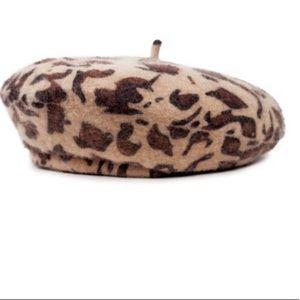 Brixton leopard beret